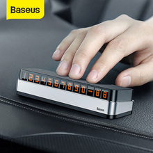Baseus Car Stickers Temporary Parking Card Telephone Number Holder Auto Park Mobile Phone Number Plate Car Numbers Stickers