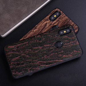 Image 4 - Cowhide Phone Case For Xiaomi Redmi Note 5 6 6a 7 7a 8 Pro For Mi 8 9 se 9T A1 A2 A3 lite Y3 Poco F1 Mix 2s 3 Bark texture Cover