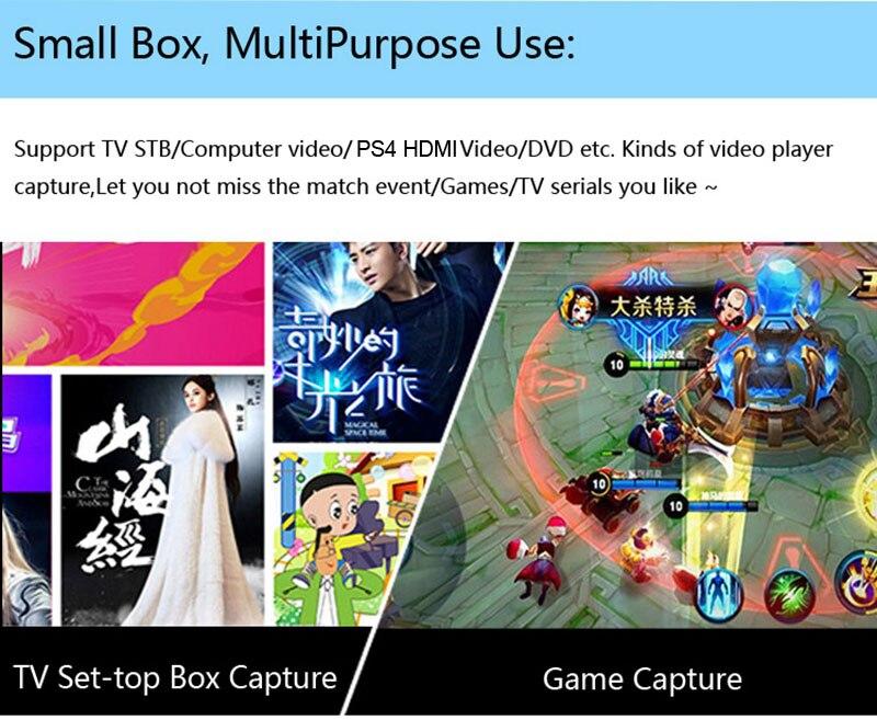 1080P HDMI Ypbpr AV Video Capture Card Record TO U Disk,TV