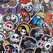20sets/lot Blinghero Horror Ghost Stickers 37Pcs/set Waterproof Scrapbooking Sticker Laptop Luggage Guitar Bicycle Decal BH0583
