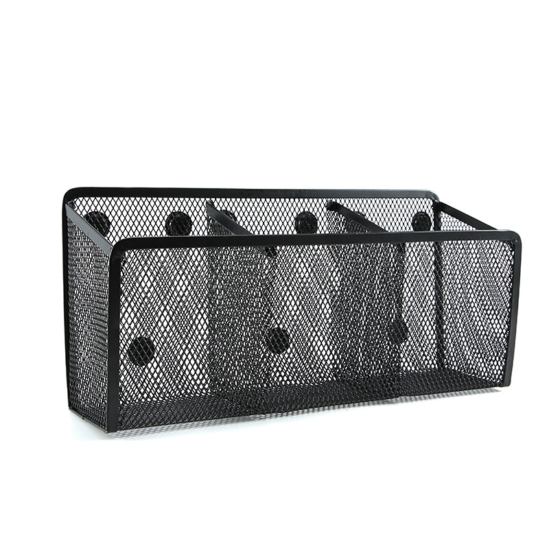 Magnetic Pen Holder 3 Spacious Storage Basket Storage Box Super Magnet Perfect Mesh Pen Holder Can Accommodate Whiteboard, Locke