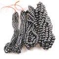Магнитный гематит из натурального камня, свободные бусины, магнитный черный галлочный камень для женщин, изготовление ювелирных изделий, а...
