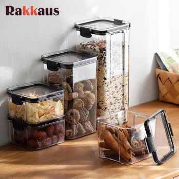 Plastic Airtight Canister Kitchen Storage Can Bottles Jars With Lid Food Container Grains Tea Coffee Beans Candy Jar Containers недорого