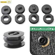 4x universal esteira do assoalho do carro anti-deslizamento clipes suportes mangas preto auto tapete fixação apertos grampos acessórios do carro