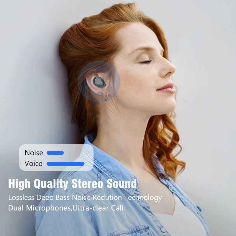 Bluetooth V5.0 słuchawki bezprzewodowe słuchawki 6D Stereo Sport bezprzewodowe słuchawki zestaw słuchawkowy 4000 mAh zasilania dla iPhone Xiaomi