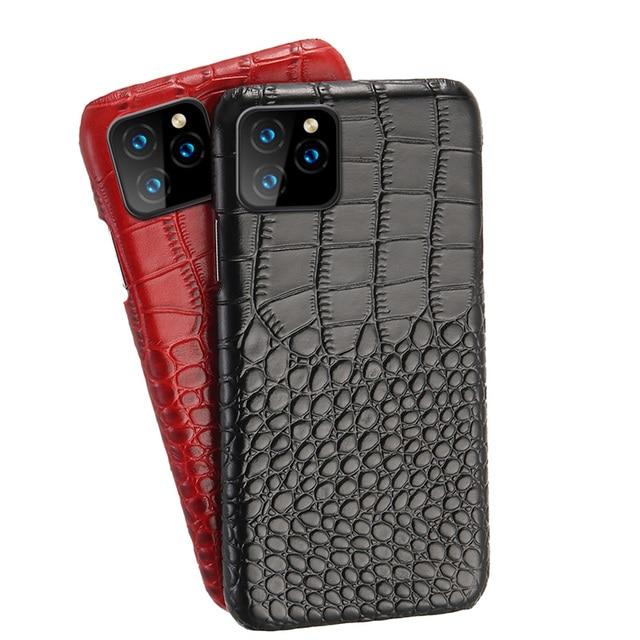 LANGSIDI جلدية الهاتف حالة ل فون 11 برو ماكس SE 2020 الفاخرة جلد طبيعي غطاء ل فون 12 الموالية XS ماكس XR X 7 8 زائد