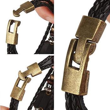 2pcs/set 12 Constellation Bracelets Luminous Charm Leather Bracelet Zodiac Horoscope Braided Bangle Men Women Jewelry Wrist Gift 3