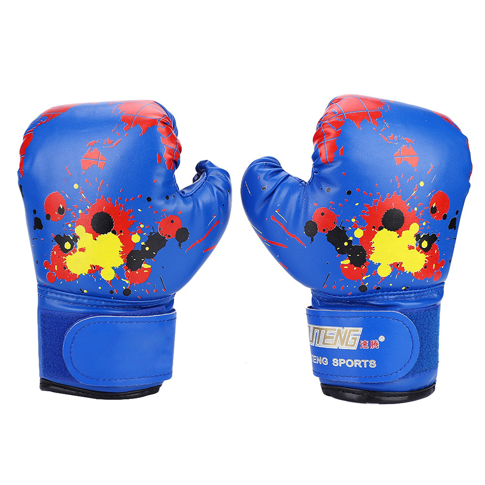 Carefully Crafted Colorful <font><b>Girls</b></font> Boys Kids <font><b>Boxing</b></font> <font><b>Gloves</b></font> Muay Thai Karate Fight Punch Training Unisex Anti-wrinkle image