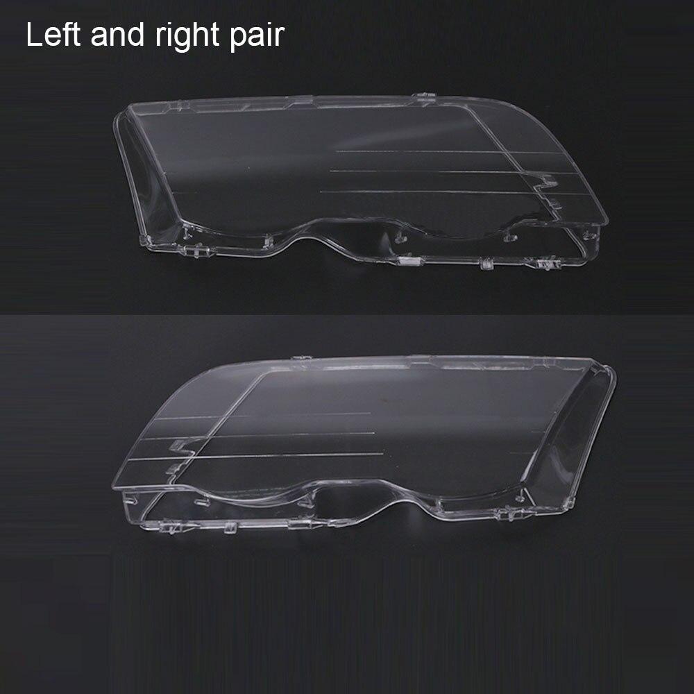 Car Headlight Cover Clear 4 Door Car Headlamp Head Light Lens Covers For BMW E46 318i 320i 323i 325i 328i 1998-2001