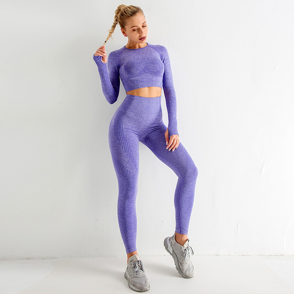 Комплект из 3 предметов для йоги бесшовный спортивный комплект