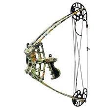 50lbs poderoso mini arco composto triângulo de tiro com arco esquerdo destro para a caça pesca arcos
