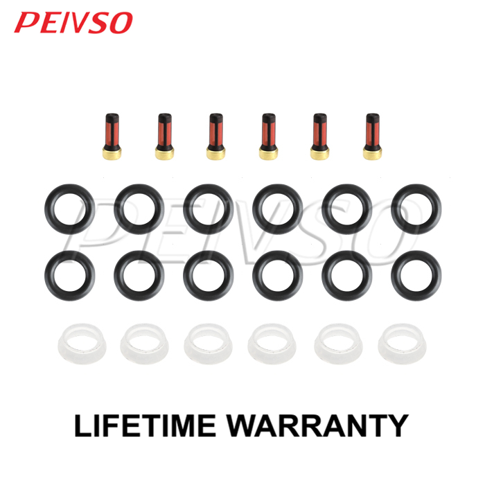 BMW Service Kit 6Cyl Injectors Caps O Rings Filters