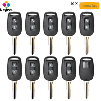 KEYECU 10PCS/Lot Replacement Remote Control Key With 2 Button 433MHz ID46 Chip - FOB for Chevrolet Captiva 2008 09 10 11 12 2013