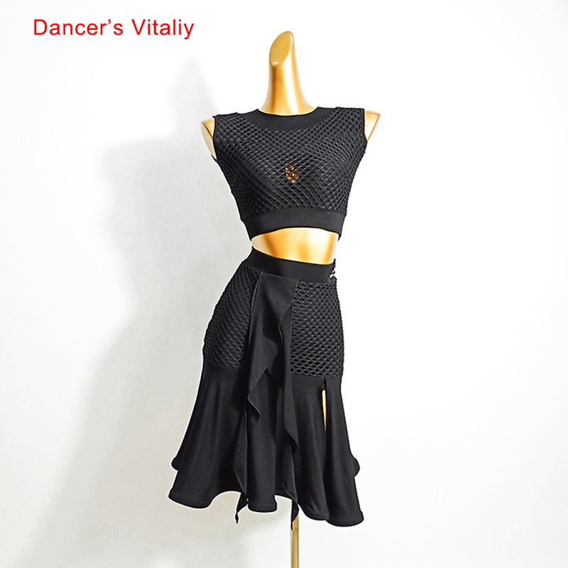 Latin Dance Female Adult High-end Sleeveless Shirt Performance Clothes New Elegant Top Or Skirt Profession Competitio Clothing