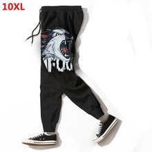 Extra large men's casual pants plus size tide loose sports trousers 10XL 9XL 160