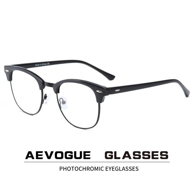 AEVOGUE Photochrome Rezept Rahmen Männer Optische Brillen Frauen Brillen Anti Blaues Licht Gläser KS101