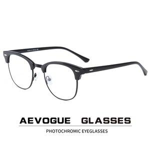 AEVOGUE Photochromic Glasses Prescription Frame Men Optical Eyeglasses Women Eyewear Anti Blue Light Glasses KS101