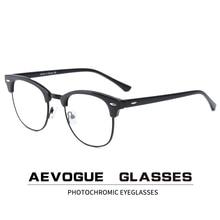 AEVOGUE Photochromic 안경 처방 프레임 남자 광학 안경 여자 안경 안티 블루 라이트 안경 KS101