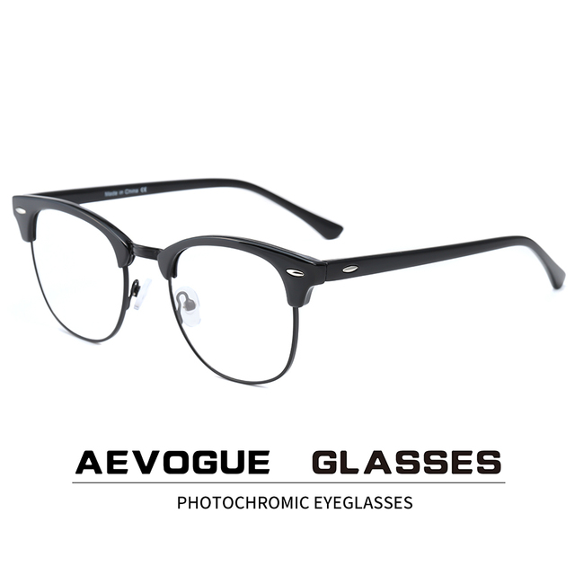 AEVOGUE Photochromicแว่นตาPrescriptionกรอบแว่นตาผู้ชายแว่นตาผู้หญิงแว่นตาAnti Blue Lightแว่นตาKS101