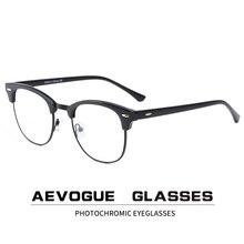 Aevogueフォトクロミックメガネ処方フレームの男性の光学眼鏡女性アイウェア抗青色光ガラスは、KS101
