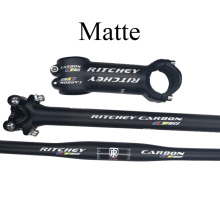 New carbon mtb handlebar 3k matte glossy bicycle parts carbon stem carbon seatpost for sale