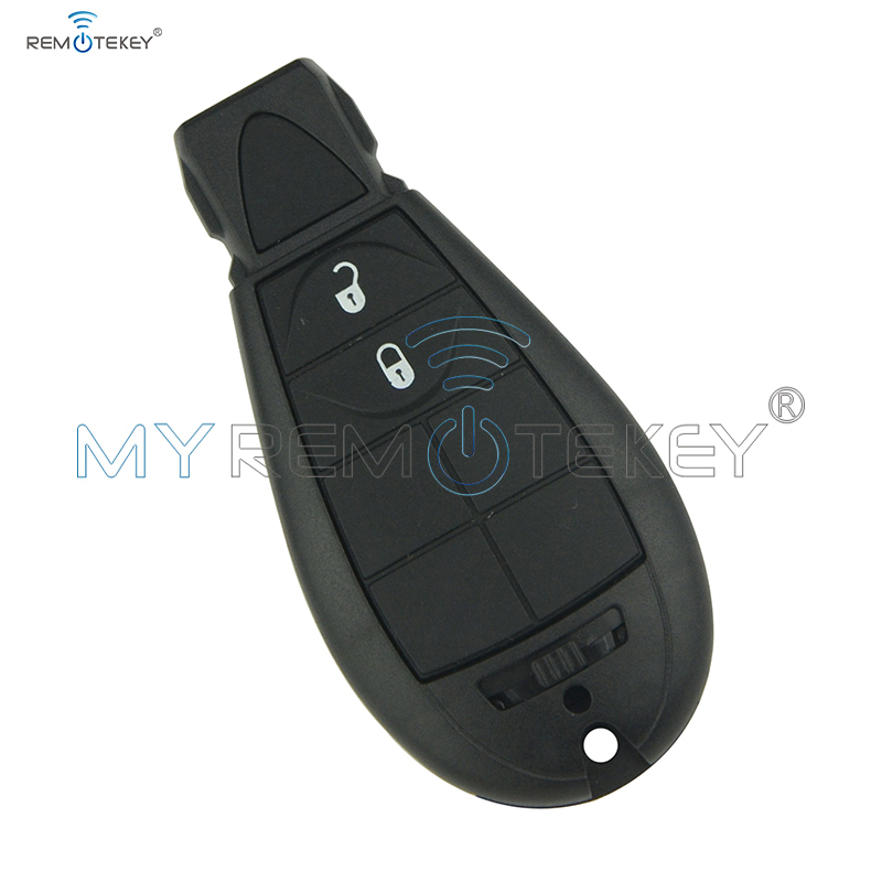 #0 Fobik Remote Car Key 434 Mhz 2 Button for Jeep Grand Cherokee 2008 2009 2010 2011 2012 2013 Replacement Car Key Remtekey