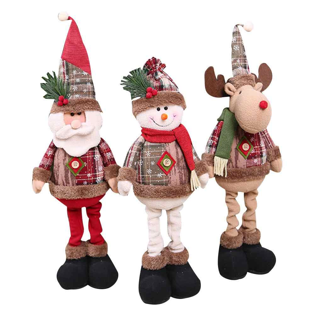 2020 Nuovo 1/3PCS Decorazioni Di Natale Bambole Alce Pupazzo Di Neve di Natale Babbo Natale In Piedi Bambola Albero di Natale Ornamento per la casa navidad Regalo Dei Capretti
