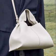 Fashion Cloud Women Handbag Soft Leather Clutches Women Dumpling Hobo Bag Vintage Shoulder Crossbody Bags for Women 2021 Tote