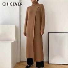 Oversized Sweater Clothing Knitting Long-Sleeve Women Turtleneck CHICEVER Casual
