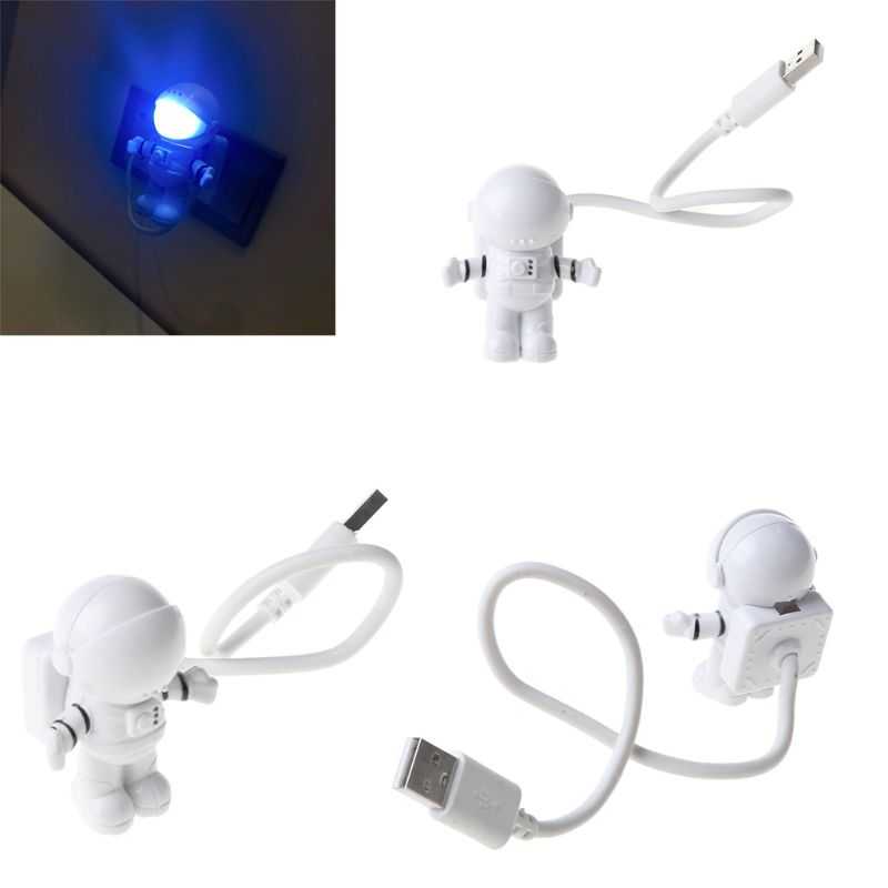 Creative Spaceman Astronaut LED Flexible USB Light Night Light for Kids Toy Laptop PC Notebook 5