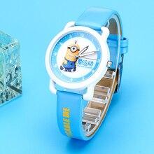 New Fashion Minions Cartoon kids watches Cute quartz girl watch