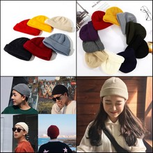 Hat No-Brim Solid Women Small-Cap Knitted Wild Neutral The of Elegant Korean-Version