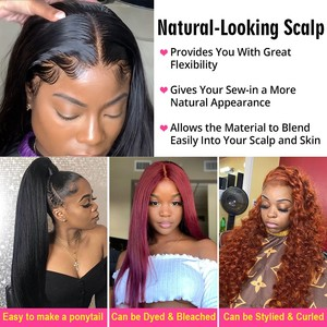 Image 5 - Nicelight Hair Straight Hair 360 Lace Frontal Wig Brazilian Remy Hair Wig Pre Plcuked Lace Closure Wig Lace Front Human Hair Wig