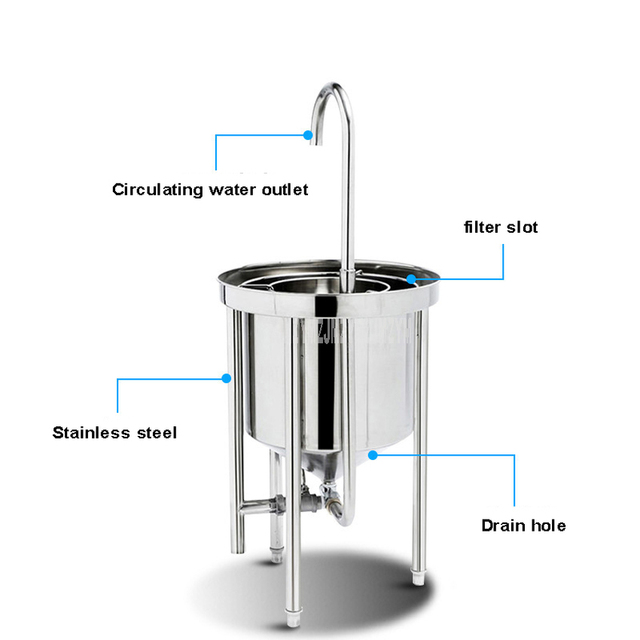 50kg Washing Capacity Automatic Stainless Steel Rice Washing Machine Commercial Large Water Pressure Rice Washing For Restaurant 2