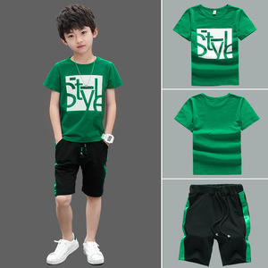 Boys Clothes Set Short Sleeve T-Shirt +Pants Summer Kids Boy Sports Suit Children Clothing Outfits Teen 5 6 7 8 9 10 11 12 Years(China)