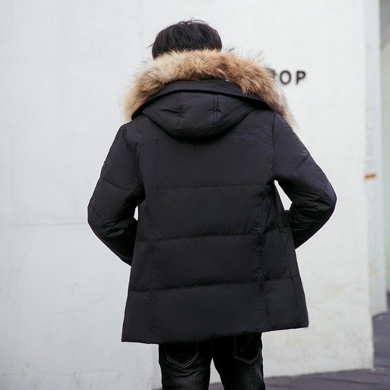 Winter 2020 Coat Duck Down Jacket Men Hooded Thick Puffer Jacket Men Fur Collar Warm Parkas Down Jackets 8232 KJ2647 S