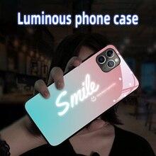 Mobile-Phone-Case Max-Case 7plus for XR 11 Pro XS Seven-Colors Glow Smile LED