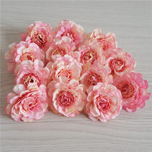 10 pcs 5cm artificial silk peony rose flower head for DIY flower wall gift box scrapbooking wedding home party decoration