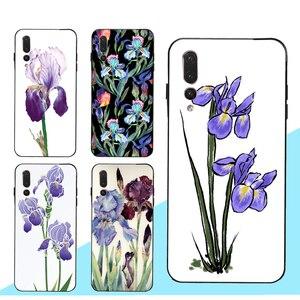 Радужный чехол с фиолетовыми цветами и акварелью для Huawei Honor 20 10i 7A Pro 7C 9 10 Lite 8A 8C 8S 8X 9X Nova 5T Y6 Y7 Y9 2019