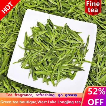 DZ-034 chińska herbata herbata wysokogórska herbata longjing herbata zachodnia jezioro longjing herbata longjing zielona herbata xihu long jing herbata chiński zielony herbata tanie i dobre opinie CN (pochodzenie)