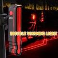 Практичный велосипедный безопасный Предупреждение ющий лазерный задний светильник USB Перезаряжаемый задний фонарь IPX5 Водонепроницаемая в...