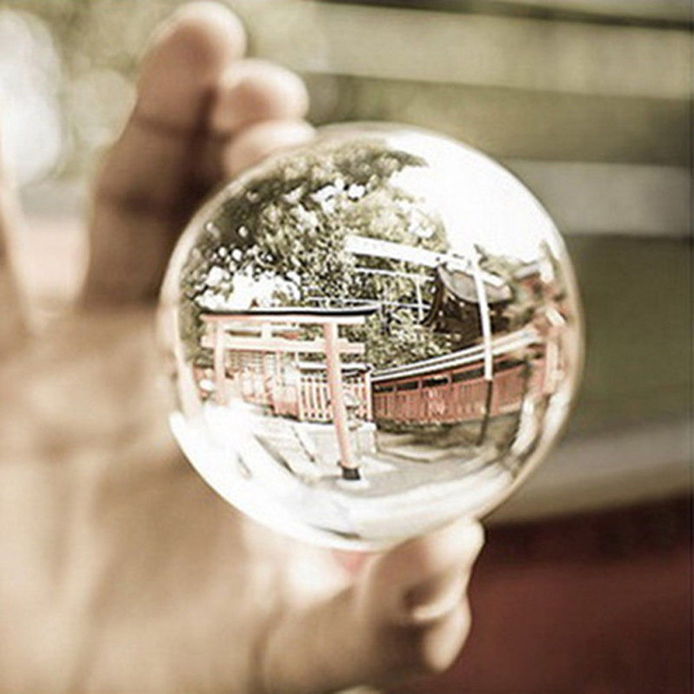 Clear Glass Crystal Ball Healing Sphere Photography Props Lensball Decor Gift  Artificial Crystal Decorative Balls
