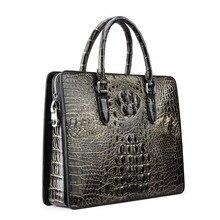 yinshang крокодил сумка сумки мужчины бизнес мужчины сумки ol мужчины портфель сечение большой емкости портативный мужчины сумки