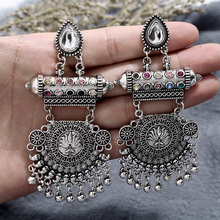 New Vintage Bohemia white Hollow Water droplets Round Circle Leaves Roses Tassel Womens drop earrings Charm Ethnic jewelry
