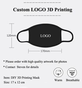 50 шт./лот, лучшее качество, индивидуальный логотип, индивидуальная 3D печать, черная маска