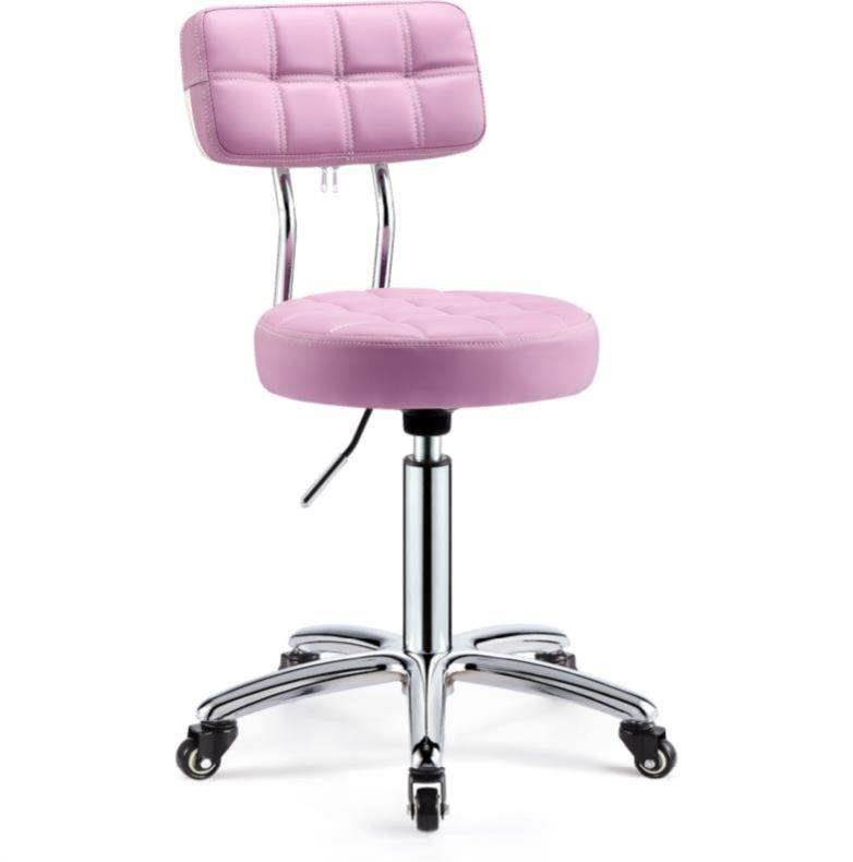 Beauty Stool Pulley Barber Shop Chair Beauty Salon Dedicated Rotary Lifting Round Stool Manicure Hairdressing Work Stool