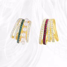 Fashion Single Green/ Red Ear Clip Jewelry Valentine's Day Gift Fashion Retro Style For Women Punk Style Ear Cuff Clip Earrings summer style snake ear cuff earrings for women monaco earings clip on ear fashion jewelry bijoux one set silver jewelry