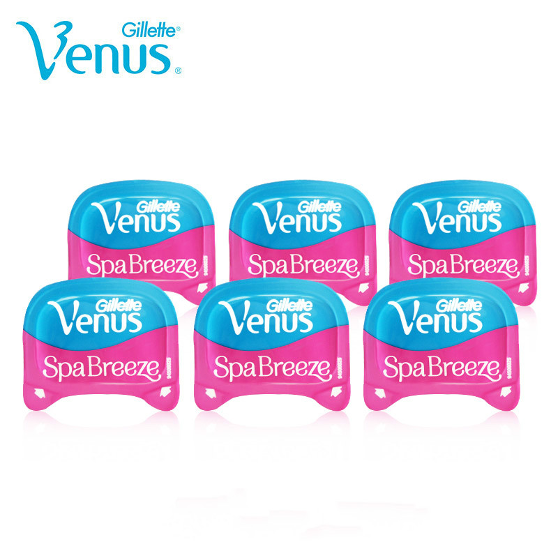 Original Gillette Venus Spa Breeze Replaceable Razor Blades For Women 6 Pieces Venus Shaving Cassettes Shaving Cartridge