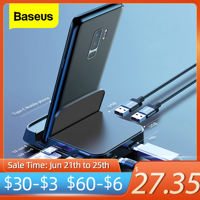 Baseus Type C HUB Docking Station For Samsung S20 S10 Dex Pad Station USB C To HDMI-compatible Dock Power Adapter For Huawei P30