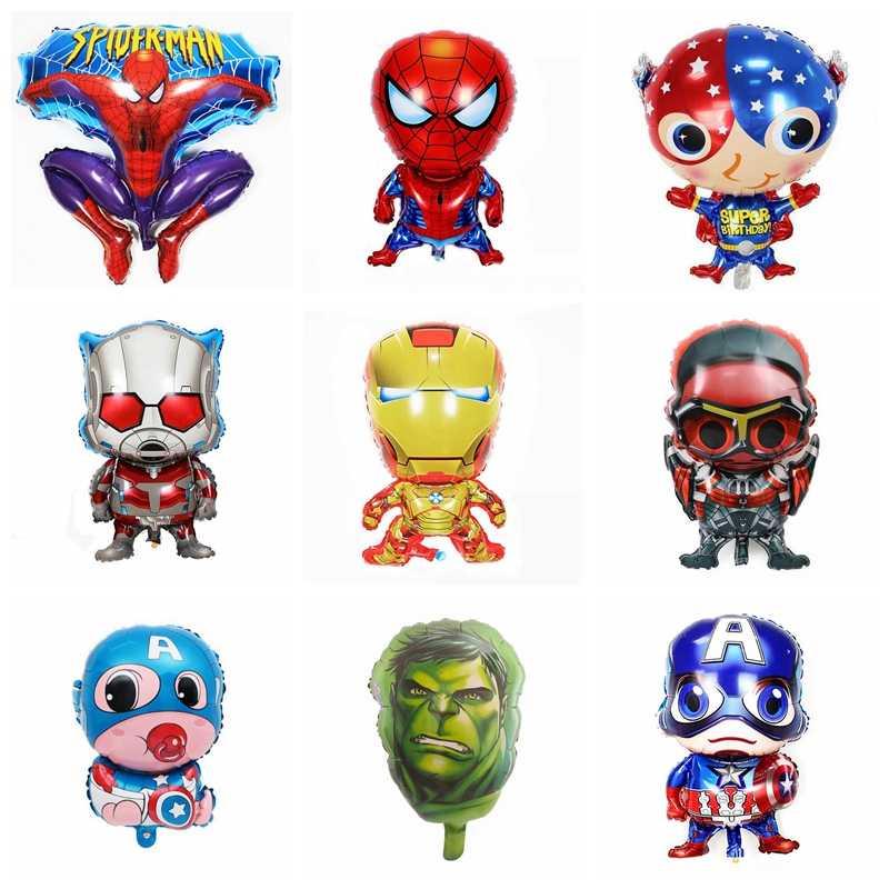 30 estilo super herói balões vingadores spiderman batman folha balão crianças aniversário festa suprimentos bebê superman brinquedos decorn